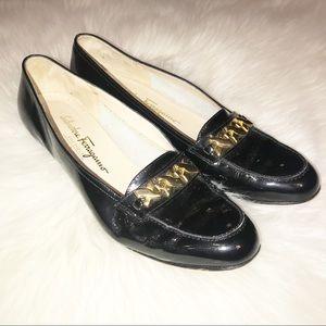 Salvatore Ferragamo heeled loafers size 10